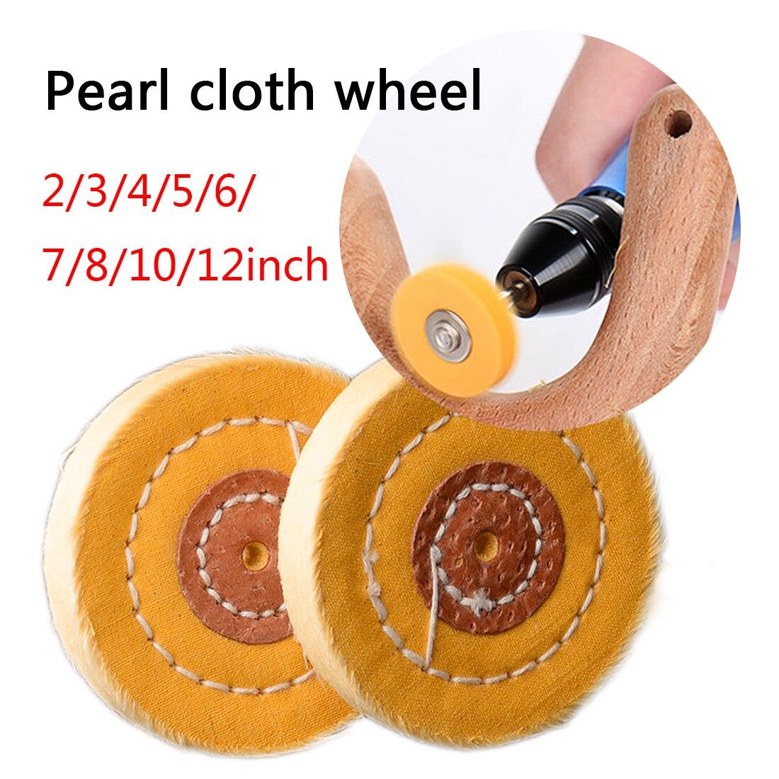 Gold Silver Jewelry  Buffing Wheel Mirror Hardware Polishing Wheel Tool 4mm Inner Diameter 50 Layers 50-300mm Cotton Lint Cloth