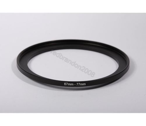 Wholesale 10pcs 67mm-77mm 67-77 67 to 77 mm Step Up Filter Ring Stepping Adapter Adaptor Black