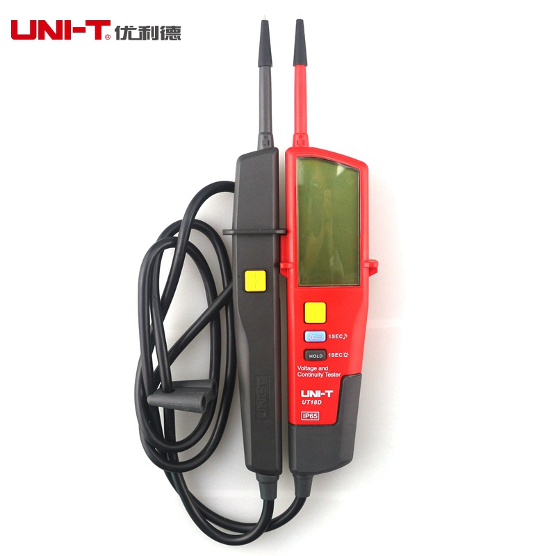 UNI-T UT18D C/DC Voltage And Continuity Testers Auto Range Voltmeter LCD Display with RCD Test mini voltage and continuity tester multi function auto range voltage teter pen lcd digital voltmeter with date hold rcd test