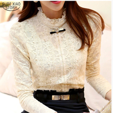 2018 women tops and blouses Women Clothing fashion Blusas Femininas Blouses Women Shirts Crochet Blouse Lace Shirt clothes 999