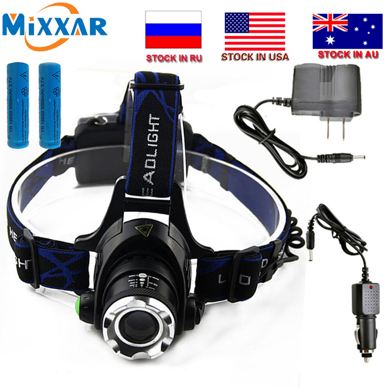 Czk20 6000LM T6 L2 Led Headlamp Zoomable Headlight Waterproof Head Torch flashlight Head lamp Fishing Hunting Light super bright led headlamp 2xt6 led head zoomable headlight waterproof head torch flashlight head lamp fishing hunting light