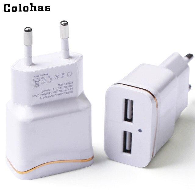 colohas 3 0a dual ports eu plug travel home charger for samsung rh aliexpress com