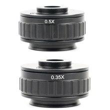 0.35X 0.5X C крепление объектива адаптер фокусировка Регулируемая Установка камеры C крепление адаптер для нового типа Тринокулярный Стерео микроскоп