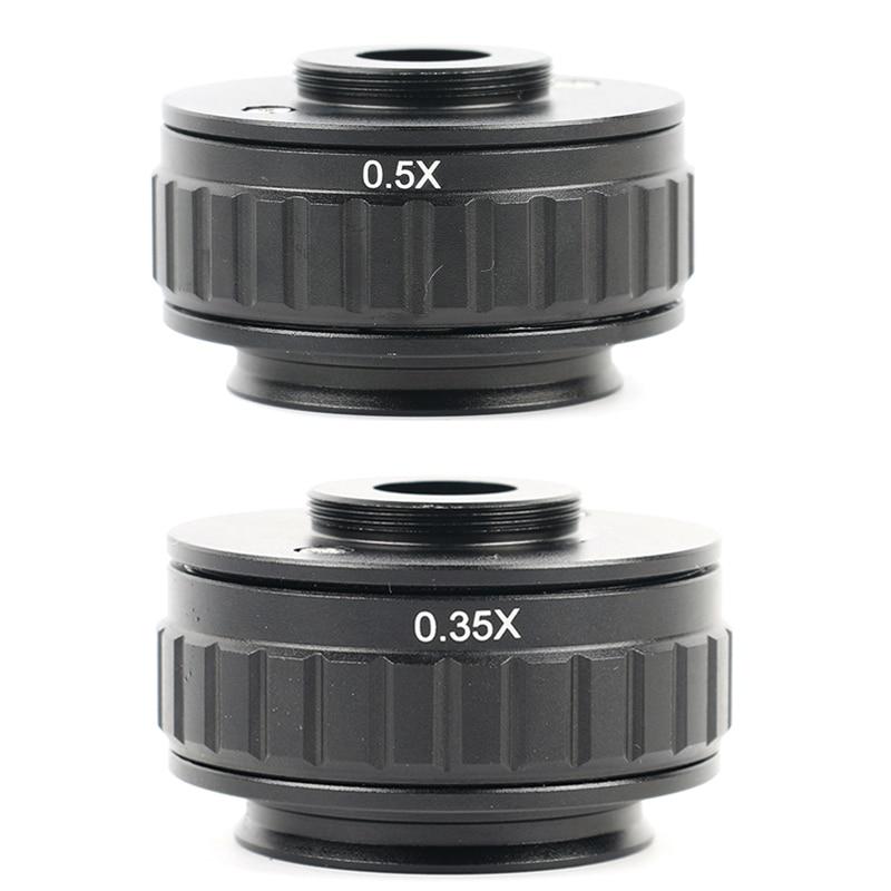 0.35X 0.5X C adaptateur de lentille de montage mise au point réglable de la caméra adaptateur de montage C au nouveau Type microscope stéréo trinoculaire