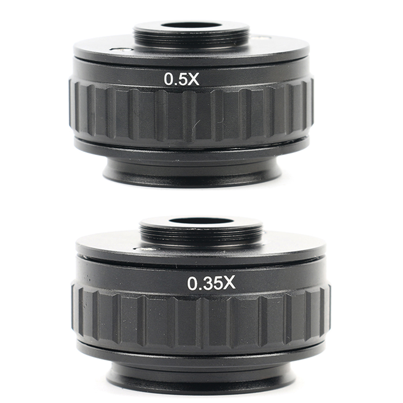 0.35X 0.5X C mount Adattatori per Obiettivi Fotografici di Messa A Fuoco Regolabile di Installazione Della Telecamera C Adattatore di montaggio per Nuovo Tipo di Trinoculare Stereo microscopio