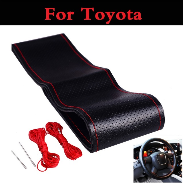 Car Steering Wheel Cover With Needles Genuine For Toyota Prado Hilux Surf Iq Ist Kluger Land Cruiser