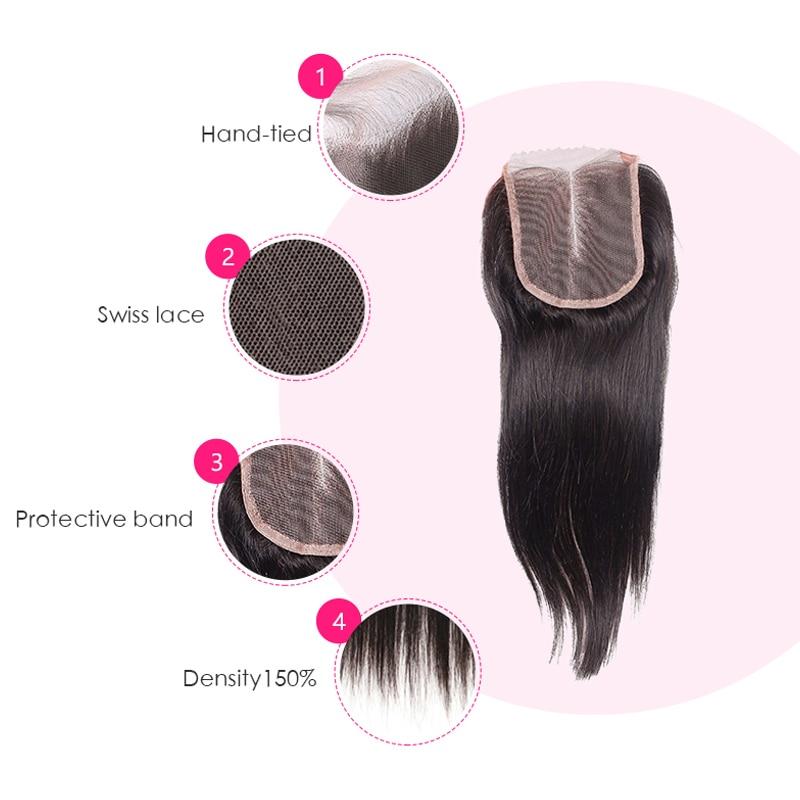 Flokët e Bukurisë së Nxehtë Para Mbylljes të Drejtë të - Flokët e njeriut (të zeza) - Foto 2