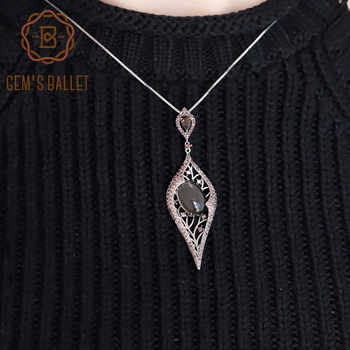 GEM'S BALLET Natural Smoky Quartz Gemstone Vintage Gothic Punk Pendant 100% 925 Sterling Sliver Necklace For Women Party Jewelry - DISCOUNT ITEM  42% OFF All Category
