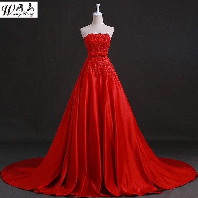Robe de mariage rouge et blanc