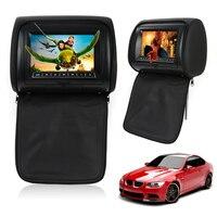 Auto Car SUV PVC Black 7 Inch Wide Screen Headrest DVD Player LCD Monitor 12V