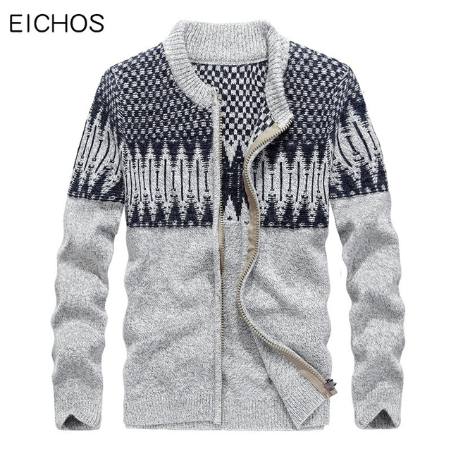 Kersttrui Man Xxl.Eichos Winter Knitted Cardigan Men Cotton Jumpers Mens High Quality