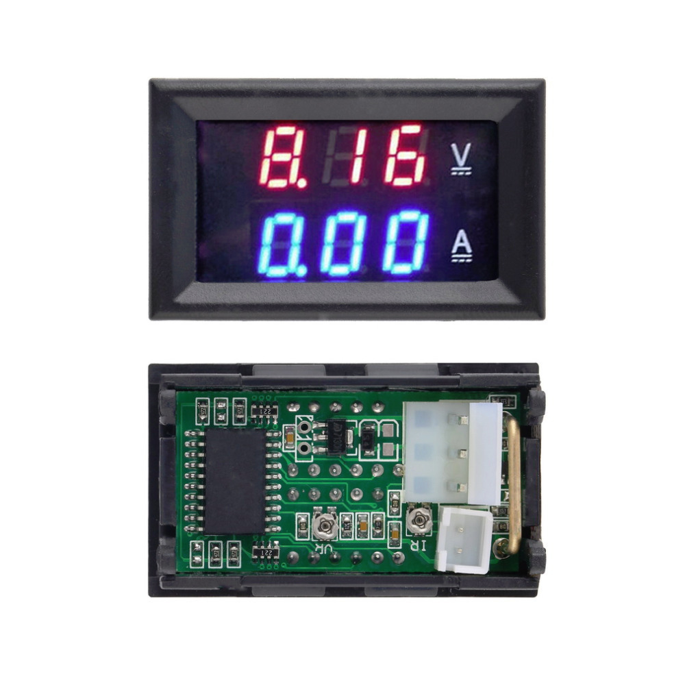 dc-100-v-10a-voltmeter-ammeter-blue-red-led-digital-voltmeter-gauge-amp-dual-voltage-current-for-home-tool-use-wholesale