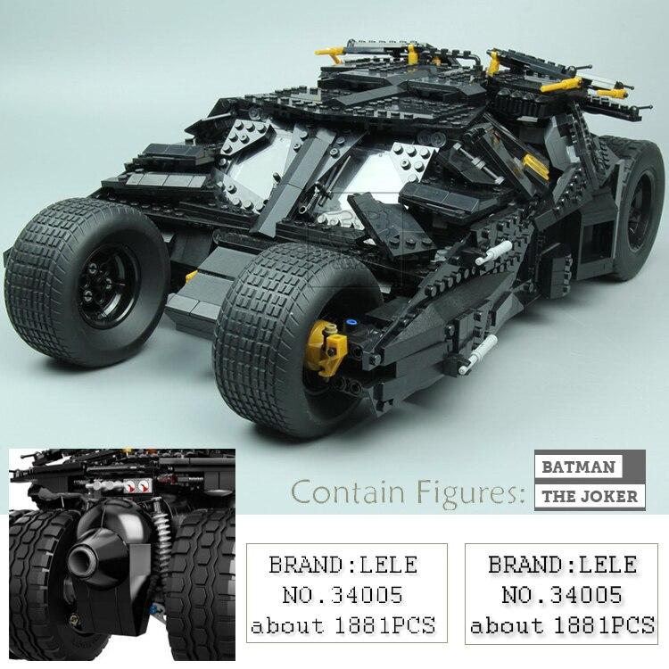 NEW LEPIN 1969Pcs Marvel Super Hero Movie The Batman Armored Chariot Set VS Joker Building Block Bricks Toys for children 76023
