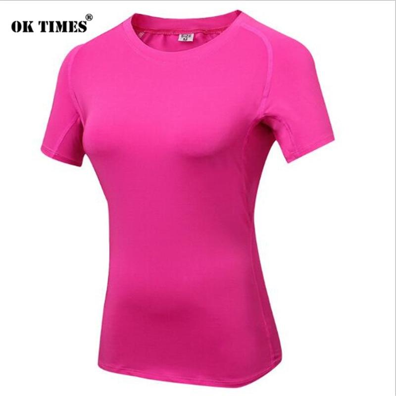 #2013 Le Donne Workout Fitness All'aperto Palestra Yoga Athletic Sport Manica Corta Top Termico Top Esecuzione Di Danza Felpa T-shirt S ~ Xxl Ineguale Nelle Prestazioni