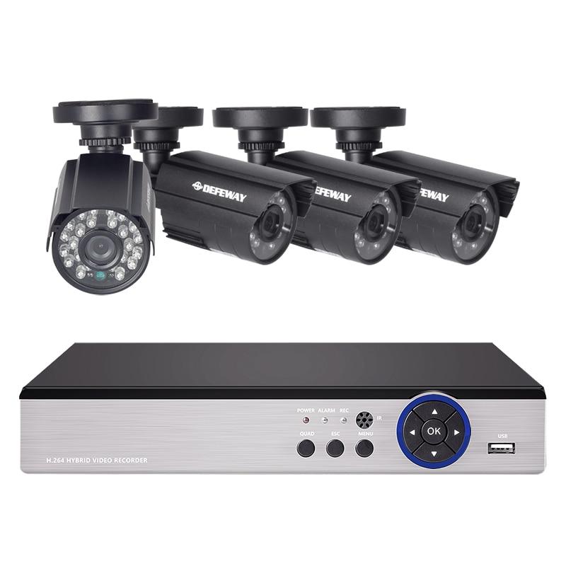 ДЕФЕВАИ ХД 1080Н П2П 8-канални ЦЦТВ систем Видео надзор ДВР КИТ 4ком.
