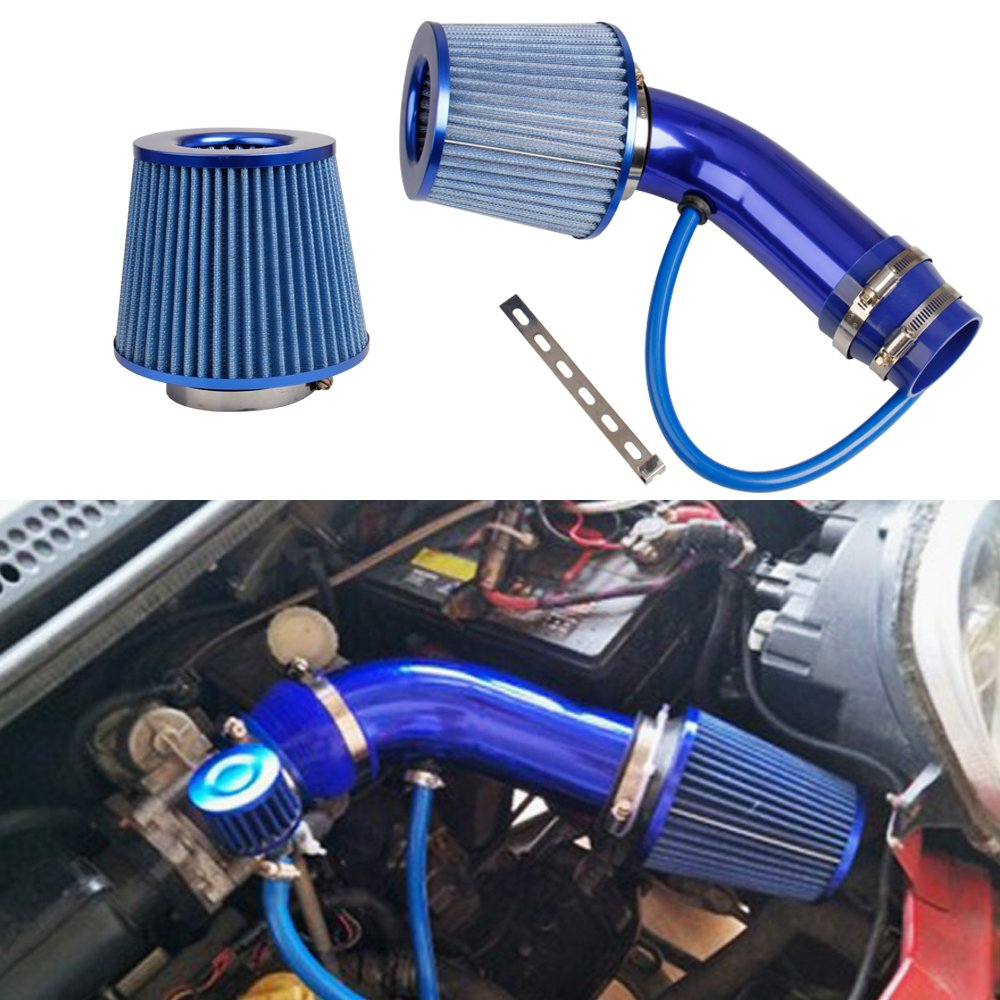 Universal Car Cold Air Intake Filter Alumimum Induction Kit Pipe Hose System Red Blue Air Filter 76mm/3inch Mushroom Head