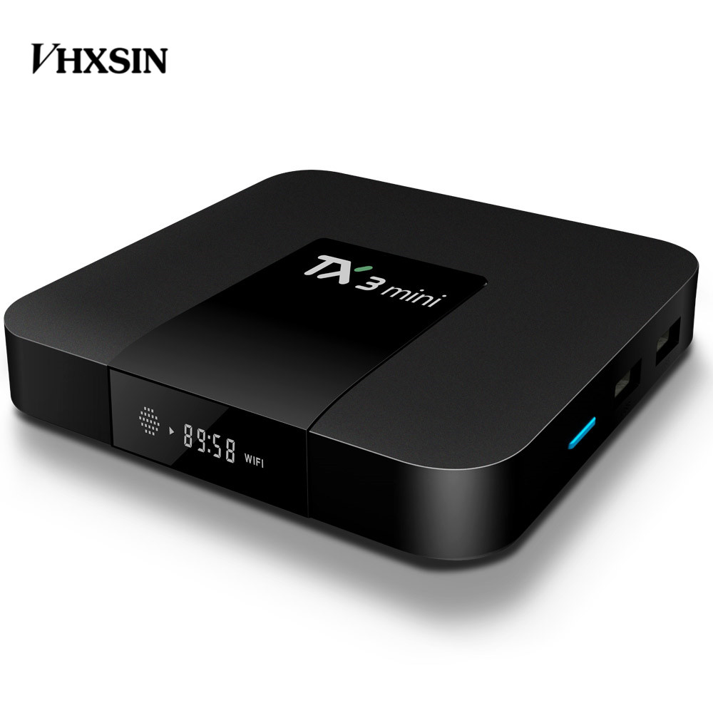 VHXSIN TX3 Mini Smart TV Box Amlogic S905W 1.5GHz 2.4GHz WiFi Android 7.1 1GB/2GB  ram 8gb/16gb rom 20 pcs/lot-in Set-top Boxes from Consumer Electronics    2