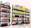3 Pcs Set 5 Layer Iron Nail Polish Shelf Black Nail Shop Exhibition Shelf Nail Polish