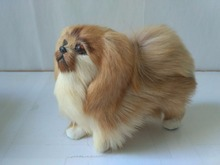Artificial Pekingese Puppies Toy For Home Decoration