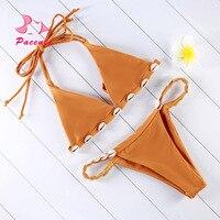 Pacento Bikinis Set Sea Shell Bikini 2017 New Arrival Swimwear Women Bikini Set Sexy Swimwear Women