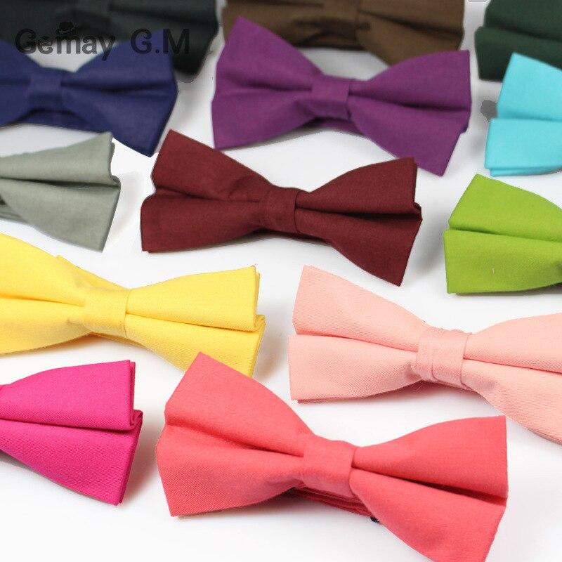Módní Pánské obleky Bowtie Candy Color Manželství Svatební Bowties pro muže Kravaty Obchodní límec Motýlek Gravata Solid Bowties