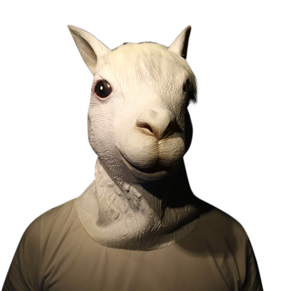 Kid Fun Toy Gift Anti-stress Adult Shocker Deluxe Halloween Costume Party Latex Animal Dog Head Mask Sounding Silent Pigeon