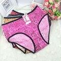 2017 new  Large size ladies sexy underwear women   briefs  bigger sizes leopard ladies free shipping AX48