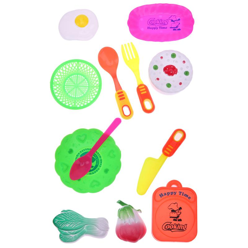 6pcs/lot Colorful kitchen Cutting Vegetable Cake Pretend Play Toys Kids Early Educational Toy Mini Kitchen Tool Toys