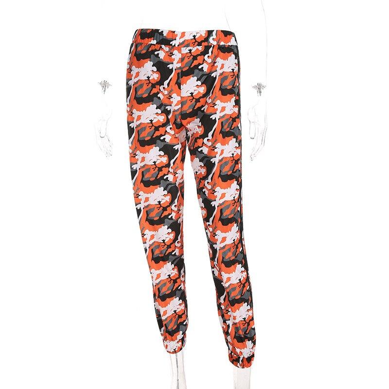 Orange Harem Camo Sweat Pants 10