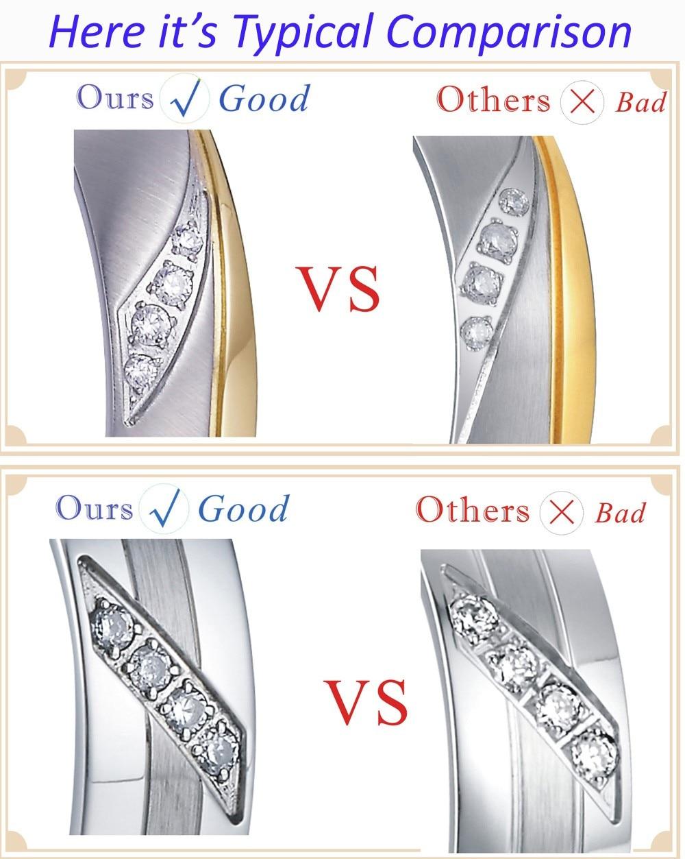 ᐂ2014 Baru Desain Cantik Titanium Anti Karat Perhiasan Kuning Emas ... 16f8ba55c6