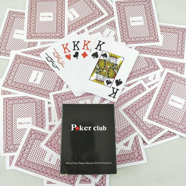 Jeu de cartes à jouer Poker en plastique imperméables  3