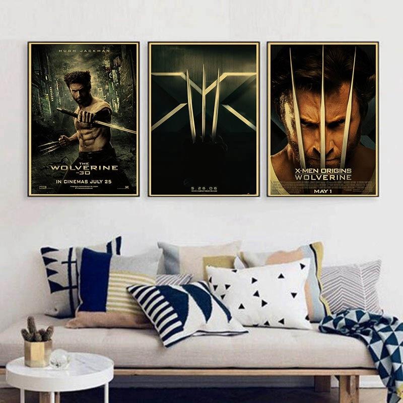 Super Hero X-Men Origins: Wolverine Hugh Jackman Vintage Paper Poster Wall Painting Home Decoration 42X30 CM 30X21 CM