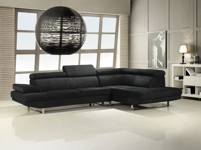 Furniture Russia Sectional Fabric Sofa Living Room L Shaped Corner Modern Shipping