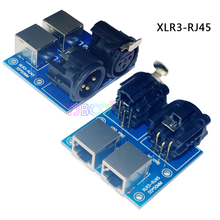 купить Wholesale terminal adapter 5 core XLR to 3 core XLR, RJ45-3P, ADDR2,XLR5-3P USE for CH LED dmx512 dimmer led decoder по цене 337.38 рублей
