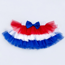 Voile  Colorful  Baby Toddler Skirts 2017 Summer Style Ball Gown Mesh Pettiskirt with Bow Independence Day Baby Girls Costume girls embroidered mesh overlay bow tie back ball gown