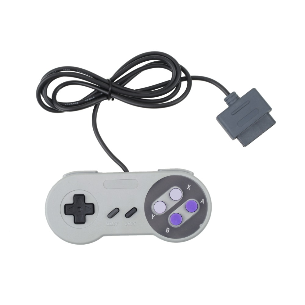 NEW Game Gaming 16 Bit Controller Gamepad Joystick for Super for Nintendo SNES System Console Control
