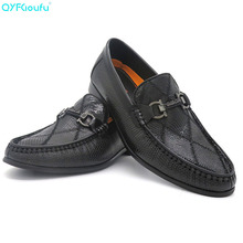 QIUFU 2019 Men Dress Shoes Genuine Cow Leather Classic Wedding Shoes Mens Casual Flats Shoes Slip On Oxford Shoes For Men Spring mens shoes large sizes casual british genuine cow leather men shoes footwear army officer classic shoes men winter fur black