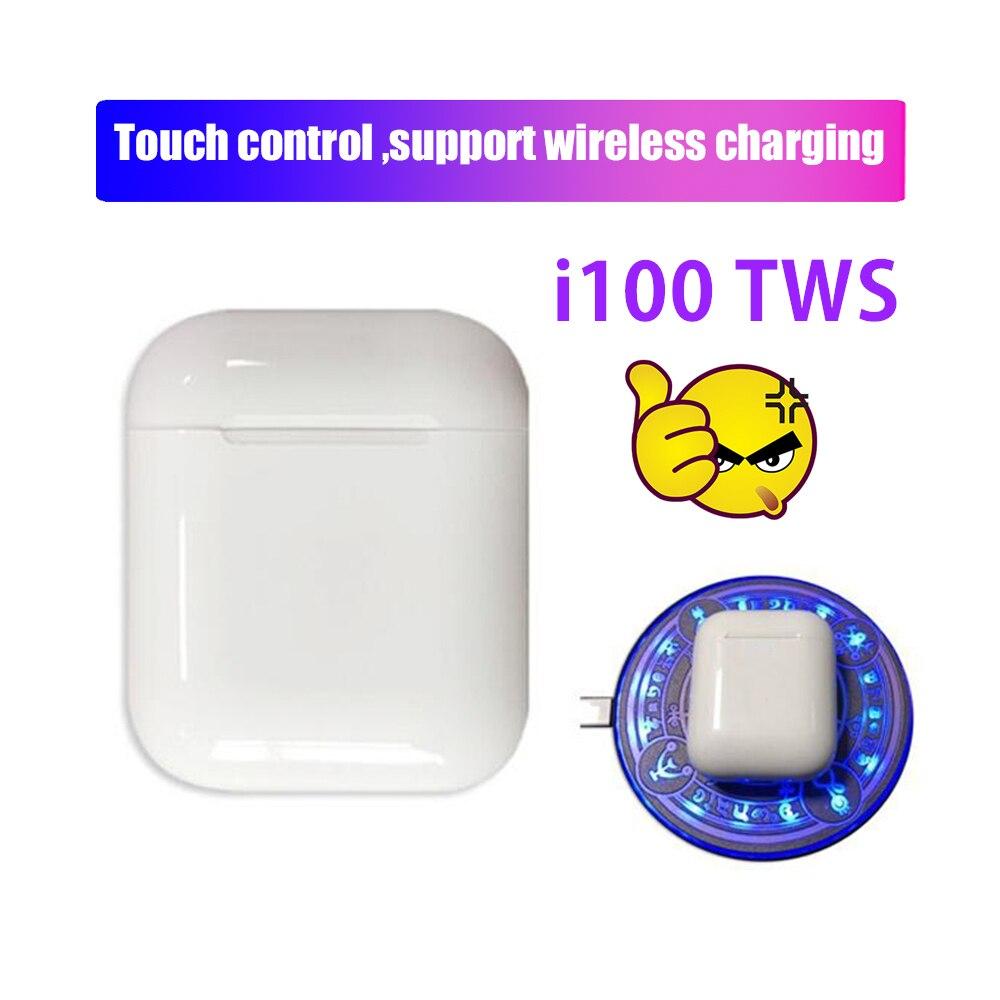 I100 TWS Suporte de carregamento Sem Fio Sem Fio Bluetooth Fone de Ouvido fone de ouvido para iphone/Android PK i50 i10 i20 i30 i60 i80 tws