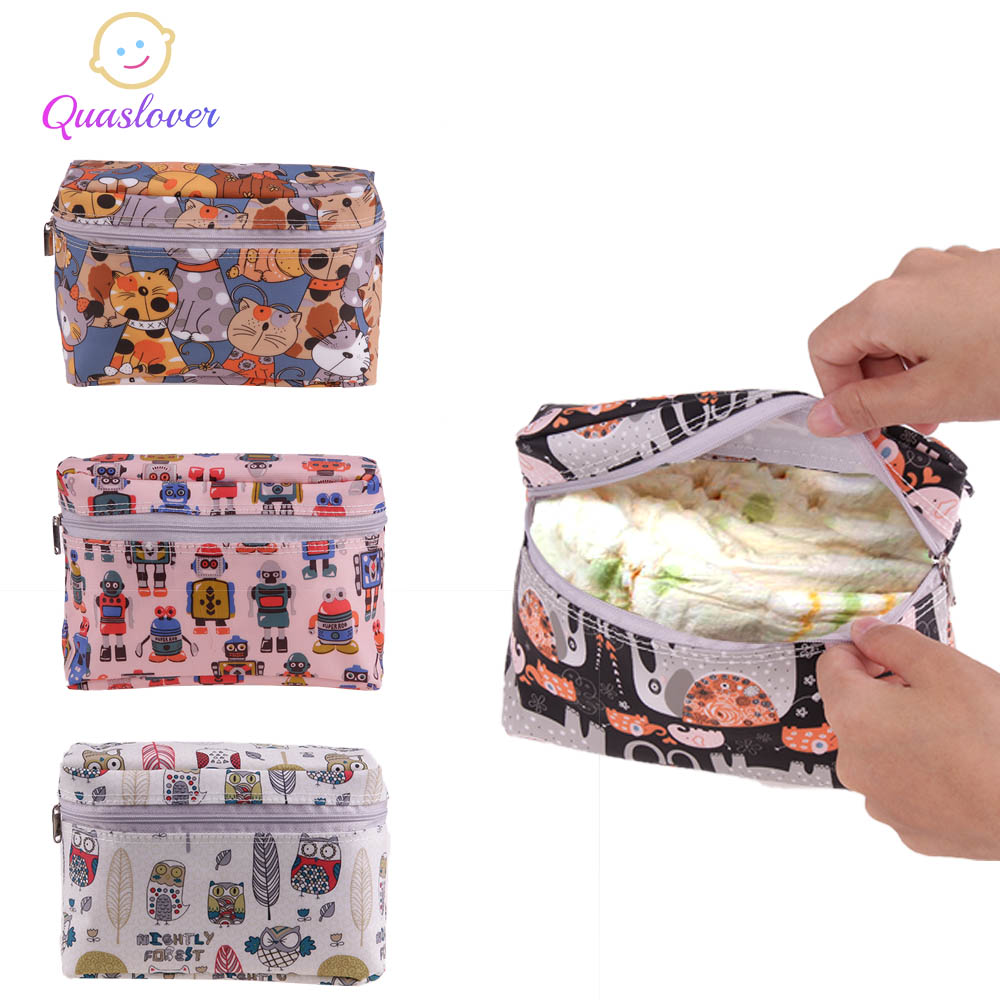 Quaslover Mini Baby Diaper Bags Diaper Backpack Baby Stroller Bag Wet Dry Diaper Organizer Bag For Outdoor Travel Wetbags