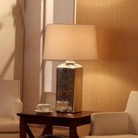 Винтаж светодиодные настольные лампы покрытие Сильвен Стекло Столик Прикроватный светильник тумбочка стол сенсорный выключатель света