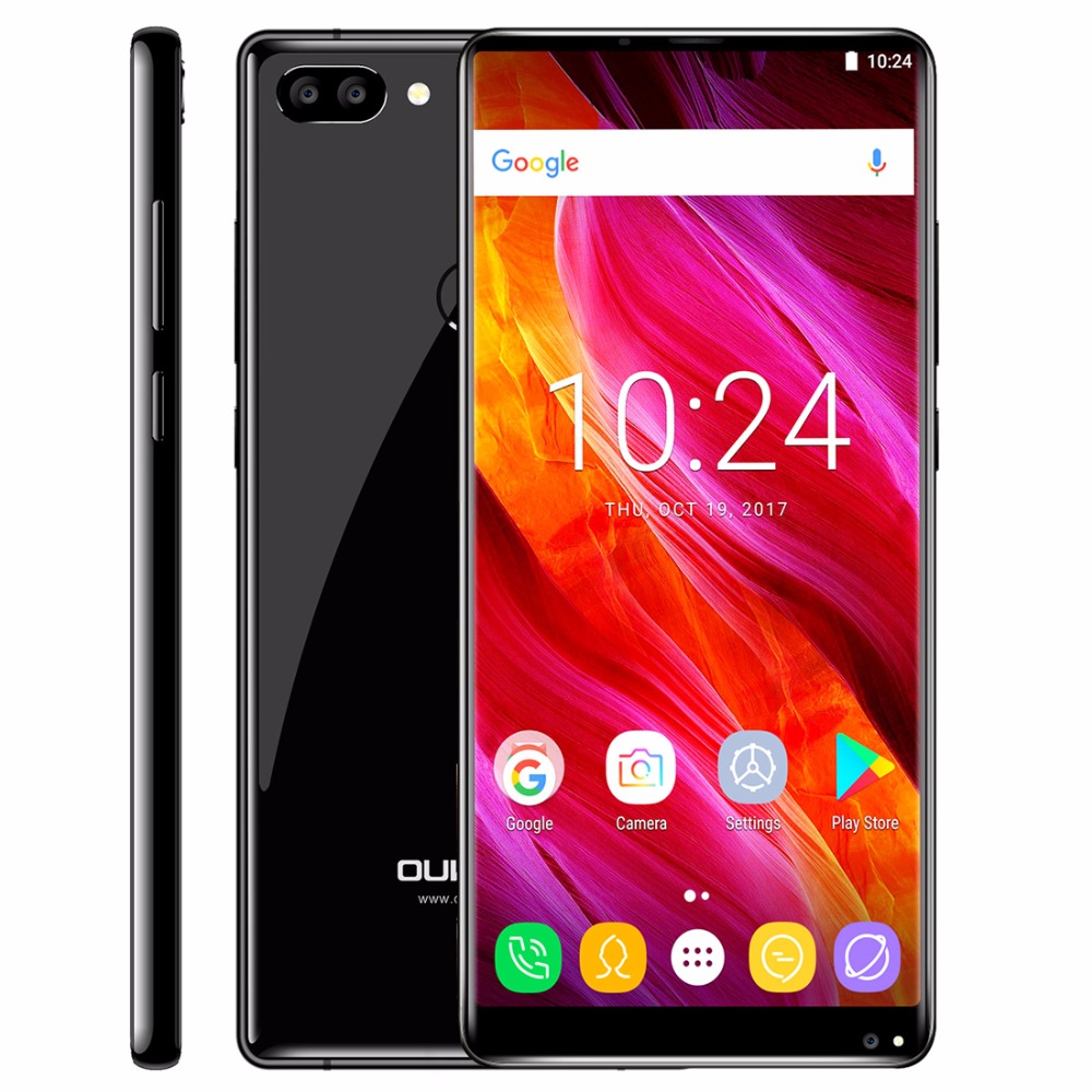 Oukitel MIX 2 Android 7.0 Mobile 5.99'' 18:9 Full MTK6757 Octa Core 2.39GHz 6GB RAM 64GB ROM Smartphone 13MP 4G Fingerprint OTG