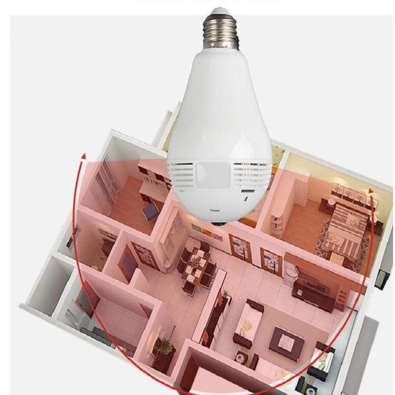 Wifi Panoramic 360 degree Light bulb Camera - CCTV Smart Home Security Bulb wifi camera 5