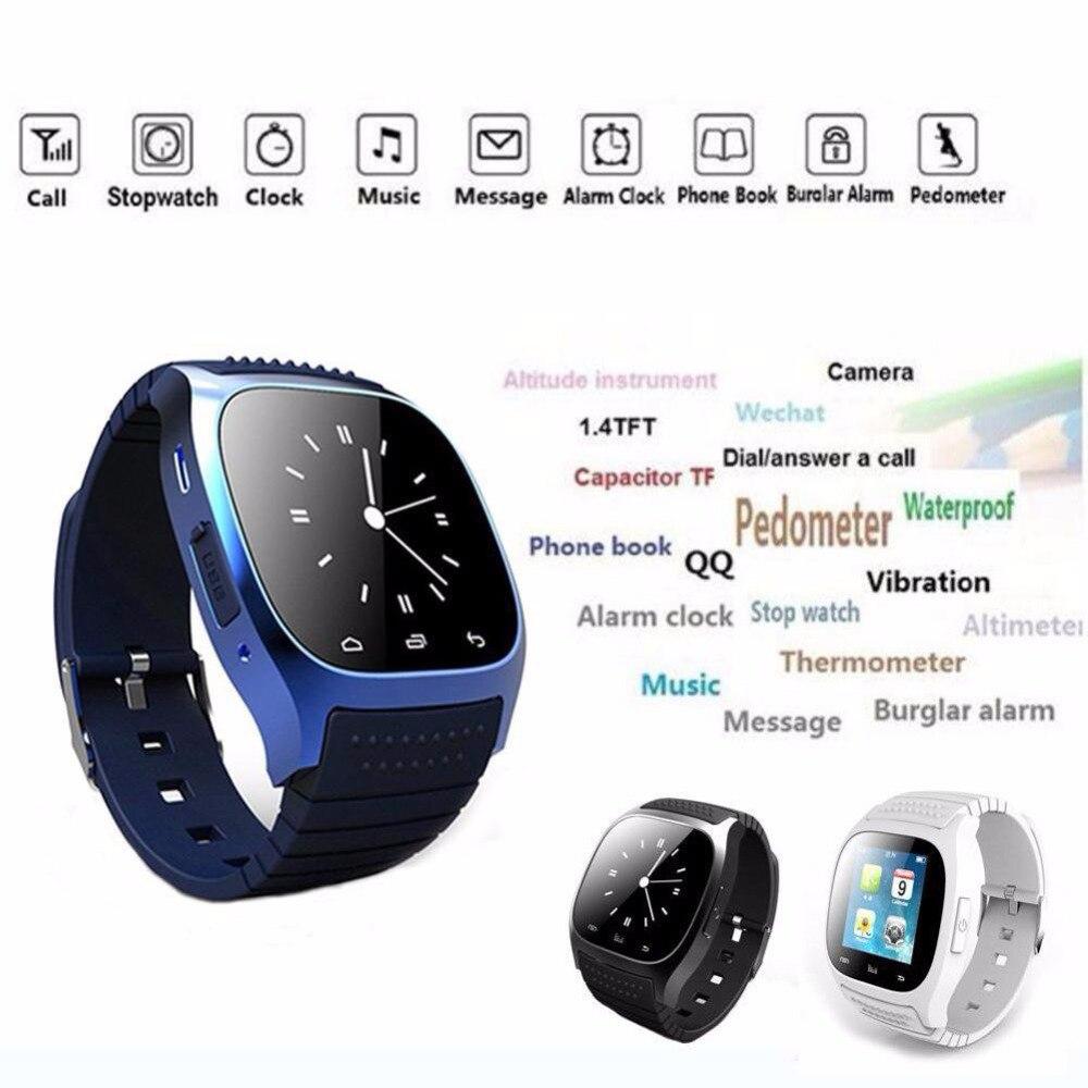 77fca67f5 Bluetooth muñeca Smart Watch M26 impermeable smartwatch llamada respuesta  reproductor de música podómetro para Android Teléfono Inteligente fitness  Tracker ...