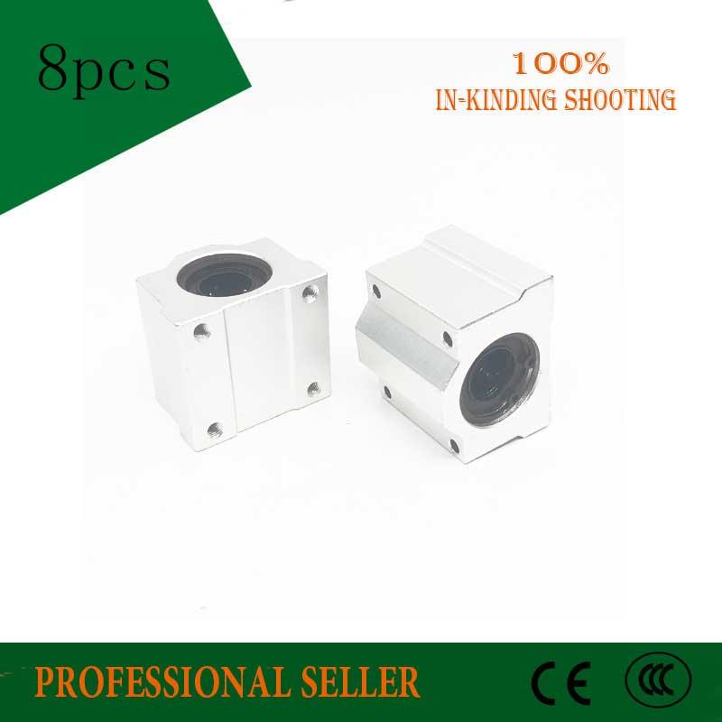 8 Pcs SC8UU SCS8UU 8mm Linear Ball-Bearing Block CNC Router