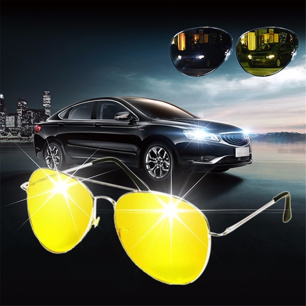Car Drivers Exclusive Night-vision Goggles Glasses Night Vision Eyeglasses Glareproof Sunglasses For Men Women Car-styling