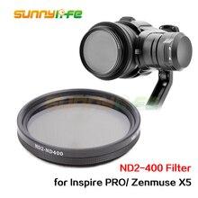Zenmuse X5 Объективы для фотоаппаратов фильтр Fader переменной ND фильтр диммер Регулируемая ND2-400 Фильтр для dji вдохновлять Осмо X5 Камера