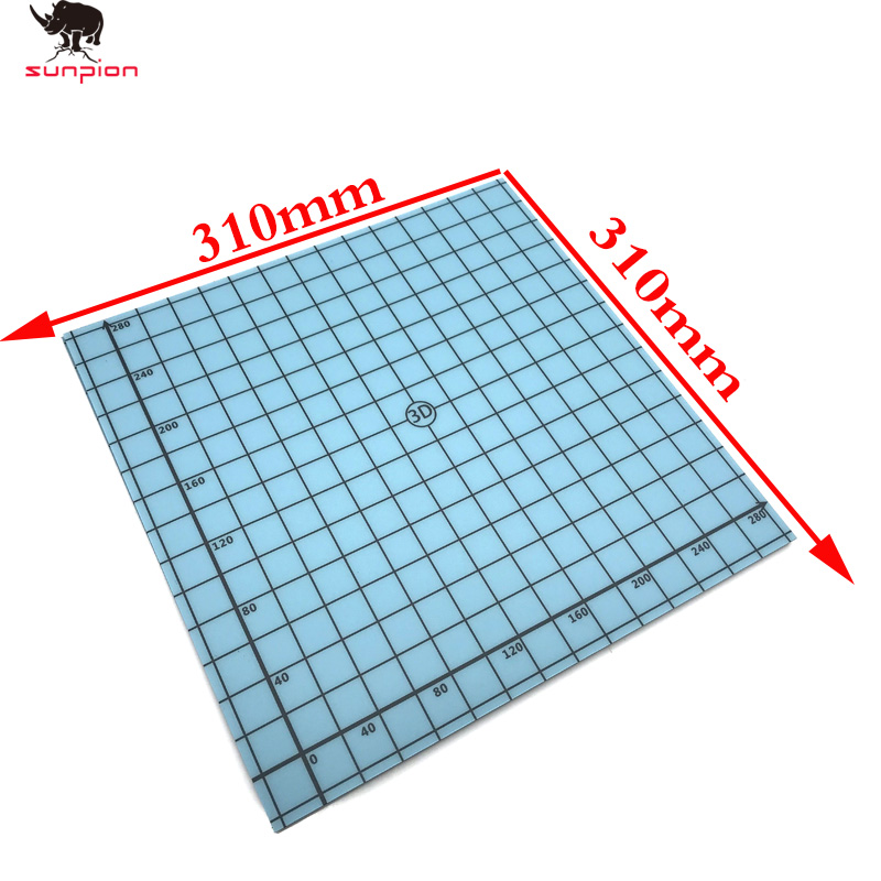 3D Printer Build Plate Tape Magnetic Square Heat Bed Sticker 300 x 300mm