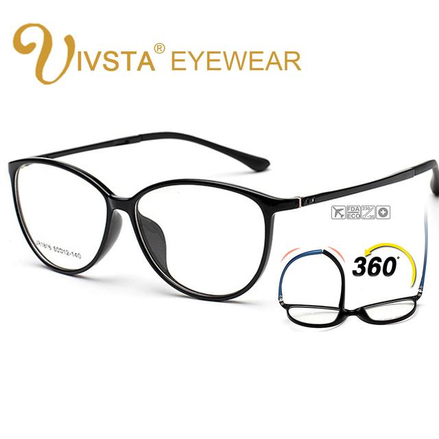 IVSTA Cat Eye Glasses Women Trendy Eyeglass Frames Vintage TR90 Nerd Retro Optical Transparent Eyewear Clear Spectacles grad