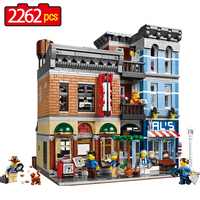 2262pcs Large Building Blocks Sets Factory City Street The Detective Office Blocks Compatible New Legoed House
