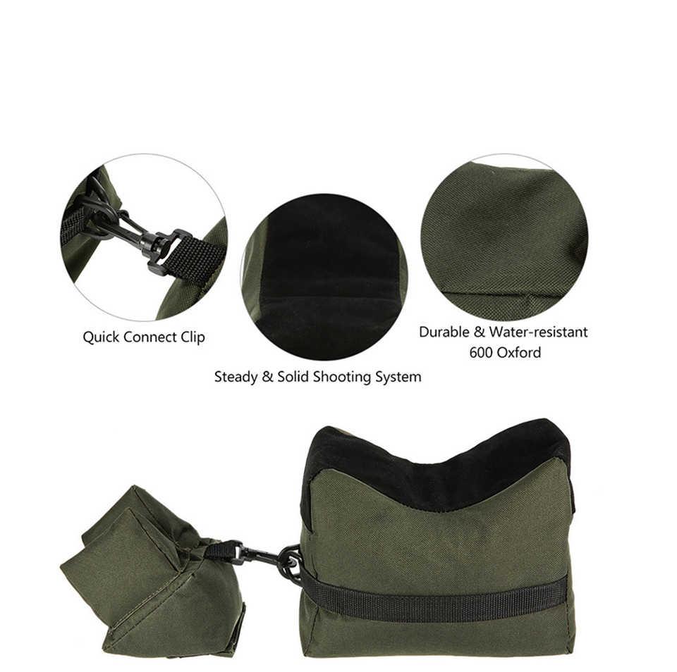 Draagbare Schieten Achter Gun Rest Tas Set Voor & Achter Rifle Doel Jacht Bench Ongevulde Stand Accessoires Outdoor Tack Driver